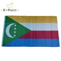 Comoros Flag National Country 3*5ft (90cm*150cm) Polyester Banner Decoration flying home & garden flags