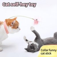 Toys For Cat Silicone Collar Funny Interactive Self-hey Multi-color Spring Feather Kitten Relieves Boredom Pet Accessories