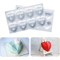 Cake Mold Silicone Heart Moulds Cute Diamonds Cakes Baking Mould DIY Epoxy Resin Molds