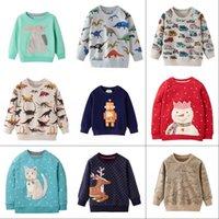 Segleroad Cartoon Dinosaurier Jungen Sweatshirts für kleine Kinder Hoodies Kleidung 2-7Years Herbst Kinder Langarm Hemden Baumwolle Y200901