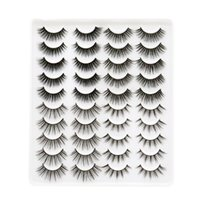 20 pairs natural false eyelash fake lashes long makeup 3d lash extension mink eyelashes 20pairs in one box J053
