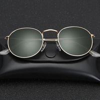 Glass Lens Small Round Sunglasses Womens Mens Metal Frame Men Women Ladies Retro Driving Sun Glasses Gafas