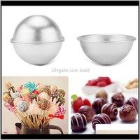 Strumenti Bakeware Kitchen, Dining Bar Home Garden3D in lega di alluminio Cake Bath Bomba Bombartta da forno Stampi arrosto Stampo a sfera arrosto Stampo Proprietà Artigiana Fatti a mano 3 Taglie