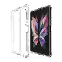 For Samsung Z Fold 3 5G Bumper Case Hard arylic Protector Phone Cover galaxy z flip 3 S21 Ultra Shockproof Clear Case