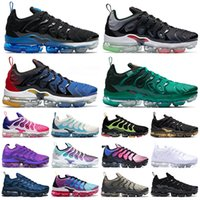 Tênis Nike Air VaporMax Plus Tn Plus Size 13 Atlanta Masculino Feminino Tênis Tudo Branco Preto Royal Platinum Midnight Navy Tênis Tênis