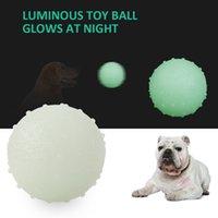 Haustier Hund Leuchtkugel Gummi Bissbeständigkeit Squeeze Toys Seal Anti-Stress-Fluoreszenzwelpe Interaktives Zubehör Kauspielzeug
