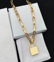 2021 luxury designer african jewelry statement necklace bracelet set brass womens mens big lock punk hip hop rock street nightmare before christmas men necklaces