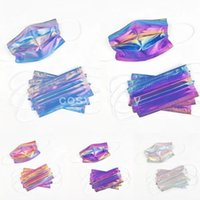 Laser Fluorescence sequin Luxry Fashion Disposable Mask Adult Men Women Prevention of Influenza Filtration Efficiency Dustproof Face Mouth Masks