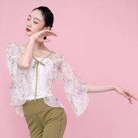 Stage Wear Fairy Classical Dance Tops Hanfu Women Floral Chinese Style Clothing Folk Dancewear Summer Festival Clothes Costume