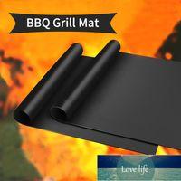 3 stücke Non stick BBQ Grill Matte Outdoor Picknick Kochen Barbecue Grill Matte Ofen Werkzeug Heißer Verkauf Wiederverwendbarer Pad Backblech Tragbar