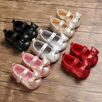 الأميرة فتاة الطفل بلينغ bowknot الأولى ووكر لينة وحيد الأحذية الجلدية ولد طفل سرير طفولي قبل الميلاد 0-18m المشوا