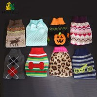 Dog Apparel Small Medium Large Pet Winter Sweater Warm Pullover Cat Knitwear Clothes Big Dogs Sweaters Puppy Kitty Knit Costume Fo Cats