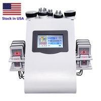 Сток в США 40k Ультразвуковая кавитация для похудения машина вакуумные вакуумные RF 8 PADS LIPO LASER LLLT Липолиз 635 нм 650 нм Ультерапия для тела