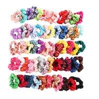60pcs lot Multicolor Elastic Headband Woman Girls Head Band Ponytail Holder Hairband Headwear Hair Accessories Makeup