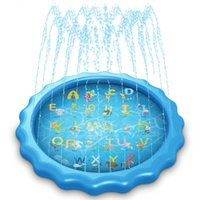 Summer water cushion children outdoor swimming games play pool lawn PVC inflatable splash blue alphabet toys