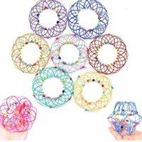 Fidget Toys Magic Flow Ring Mandala Цветочная корзина Несколько изменений ручной работы железные петли проволоки Корзины для детей взрослых стресс помощите палец веселые подарки GH33MDRX