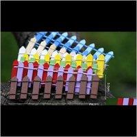 Topaklar Tencere Mini Çit Küçük Bariyer Ahşap Reçine Peri Bahçe Süslemeleri Minyatür Çitler Bahçeler için Tiny Bariers Ow5ns Zok0T