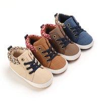 Primeiros Walkers FocusNorm 4 Cores Infantil Baby Boys Sapatos Manta Patchwork Sole Sole Calçado de Andar para a Primavera Outono