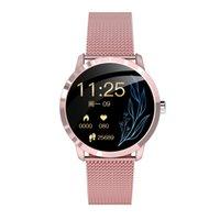 Q8L OLED Bluetooth Smart Watch Acciaio inossidabile Acciaio inox Impermeabile Dispositivo indossabile Smartwatch Orologio da polso Uomo Donna Beach Tracker
