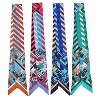 Tücher streifen geometrische Patchwork Riband Taschen Griff dünnen Schal schmücken Haarband bandeaus Multifunktions-Choker-Krawatte