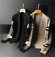 メンズパーカーセーターカーディガンカジュアルVネックシャツ秋冬スリムフィット長袖男性セーターニットフーディプルホムトップ服