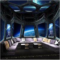 Wallpapers Custom 3D Po Wallpaper Space Fresco Art Wall Painting Living Room Bedroom Ceiling Mural De Parede