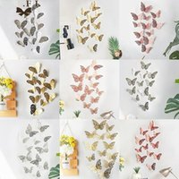 Casa Decoração 12 Pcs adesivos de parede de borboleta 3d para crianças quartos decoração diy borboletas geladeira sala