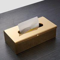 Titulares de papel higiênico de parede montado suporte de suporte impermeável caixa de tecido preto Livng quarto de guardanapo de guardanapo