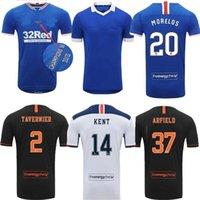 20 21 Glasgow Rangers Şampiyonlar 55 Sürüm Futbol Formaları Defoe Morelos Kent Retro Erkekler Kadınlar Yetişkin Futbol Gömlek