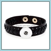 Ювелирные изделия Дизайн 10 шт. Лот имбирный кожаный манжеты браслеты DIY Snap ювелирные изделия для мужчин Женщины подходят 18 мм кусочек защелки