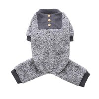 Dog Apparel Pet Pajamas Super Soft Plush Warm Autumn Winter Clothes Home Tracksuit Four-legged Coat For Small Dogs