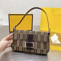Дизайнеры Женщины Baguette Bags Bagurets Luxurys Сумка Ретро Мода Пункт 2021 Подмышечный Кошелек Crossbody Высокое Качество Коричневое Классическое письмо