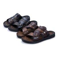 Sandales d'hommes d'âge d'âge moyen Hommes Sandals Summer Trendy Casual Chaussures de plage Dual-Usage Non-Slip 1602