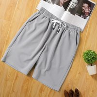 Men's Shorts Casual Sports Summer Colorful Street Fashion Men Pants Polyester Drawstring Male Solid Color Comfy Beach