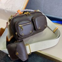 Moda mujer bolsa cámara bolso monedero monedero lienzo natural perno utilidad cruzado diseñador hombre mensajero bolsas mini embrague hombro doble cremallera cierre M80446