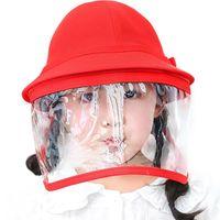 Children Full Cover Face Shield Hat Little Yellow Caps Kindergarten Protective Cap Children's Anti-spray Windproof Kids Baby Caps & Hats