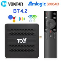 VONTAR TOX1 Android TvBox 9 Smart TVbox 4GB 32GB Amlogic S905X3 Dual Wifi 1000M BT4.2 4K Media Player Support Dolby Atmos Audio