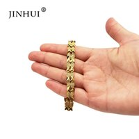 Jin Hui Mode African Etiopien Kvinnor Guldfärg Bracelet Party Ornament Luxury Presenter för vänner Dubai Fish Style Bangle Link, Chain