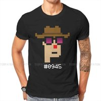 Men's T-Shirts CryptoPunks #0945 WHITE Hip Hop TShirt NFT Non Fungible Tokens Creative Streetwear Casual T Shirt Male Tee Special Gift Idea