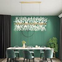 Pendant Lamps 2021 Modern Restaurant Shop Dining Room Home Decoration Crystal LED Chandeliers 220V G9 Bulb Nordic Style