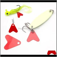 Baits Sports & Outdoors Drop Delivery 2021 100Pcs Plastic Fishtail For Spinners Sequin Trout Spoon Fishing Lures Red Heart Sequins Attracting