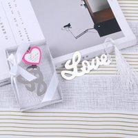 Love Bookmark avec Tassel Wedding Party Favoris Favoris Anniversaire Cadeaux Bridal Douche Événement souvenir Rendez-vous GiveAways M Dream B Zeg