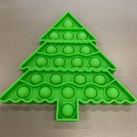 3pcs Push Bubble Sensory Toy Christma Tree Autism Special Needs Anti Stress Child Educational For Focus Training Party Favor