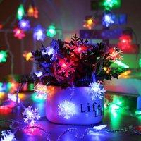 문자열 크리스마스 문자열 조명 LED 눈송이 빛 반짝 반짝 반짝 반짝 반짝 반짝 빛나는 배터리 공휴일 파티 결혼식 장식 요정