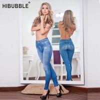 Hibubble Yoga Pantalones deportivos Leggings Mujeres Velvet Negro Leging Ladies Jeggins con bolsillos reales Push Up Legging Pant M9IQ #