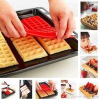 케이크 도구 안전 캐비티 와플 실리콘 스퀘어 초콜릿 팬 베이킹 4 격자 DIY 오븐 비스킷 금형 아이디