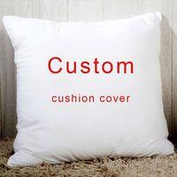 Cushion Decorative Pillow 100 Pcs Cushion Cover Free Po Logo Printed Case For School Company Celebration Wedding Wholesale