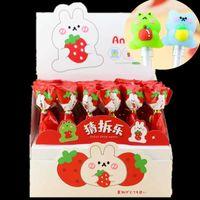 Pen Keqi 7609 cute strawberry rabbit lollipop guess split music neutral cartoon cute pet bear frog silicone