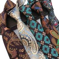 Новый мужской галстук Жаккардовые кешью Pattern Business профессиональный износ