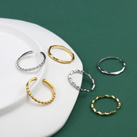 Wedding Rings Silver Plated For Women Couple Engagement Ring Korean Simple Gold Jewelry Exquisite Statement Bands Birthday Gifts